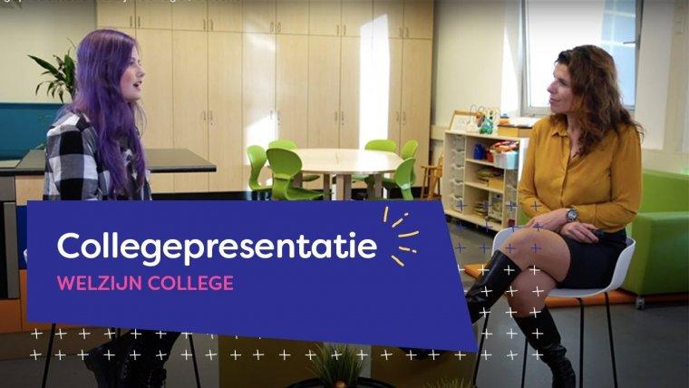 YouTube video - Online presentatie van Welzijn College Utrecht